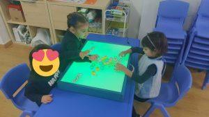 Aprendemos nuestro nombre con la nesa de colores 🟡🟢🔵🟣🟠⚫⚪⚪
